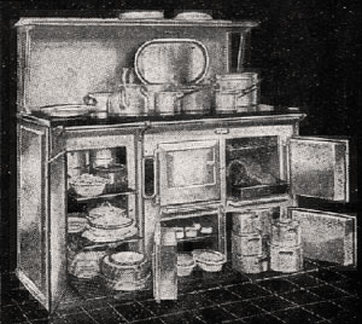 Old-fashioned kitchen range