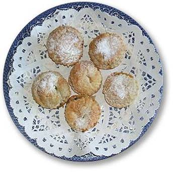 mince pies on blue plate