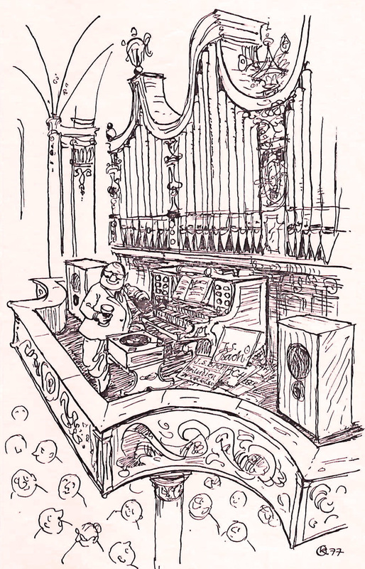 pipe organ cartoon